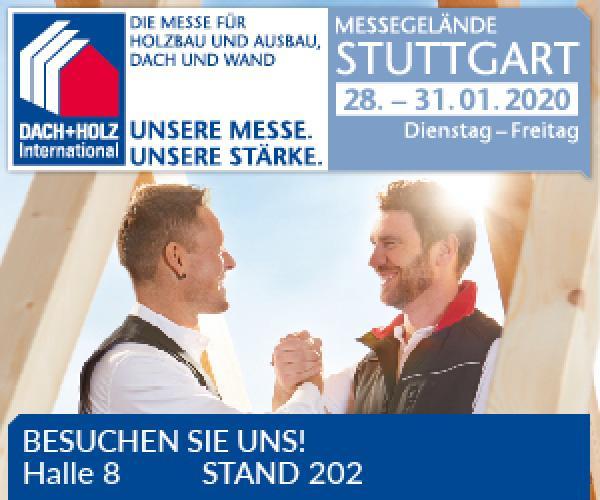 Besuchen Sie uns auf der Dach + Holz 2020 in Stuttgart - BLUECAT® GmbH